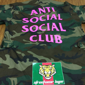 Anti Social Social Club Military Jackets Men Assc Logo - Black ,ASSC,Kanye West-i feel like pablo-yeezy hoodie-anti social club
