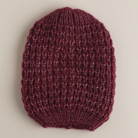 Wine Woven Beanie | World Market