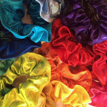 Extra MYSTIQUE HAIR SCRUNCHIES to Match your Leotard Gymnastics Gymnast  Many Colors Available