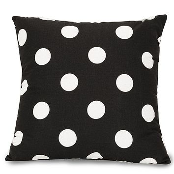 Black Large Polka Dot Large Pillow