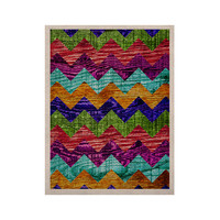 "Beth Engel ""Natural Flow"" Chevron KESS Naturals Canvas (Frame not Included)"