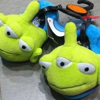 Disney Toy Story Alien Plush Comfy Socktop Slippers Shoes, Kids Shoe Size 7-8, Great for Halloween Costume