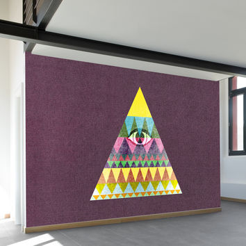 Pyramid in Space Wall Mural