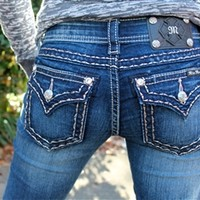 Miss Me Rhinestone Denim Jeans