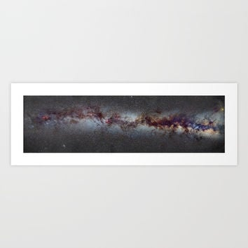 The Milky Way: from Scorpio and Antares to Perseus Art Print by Guido Montañés