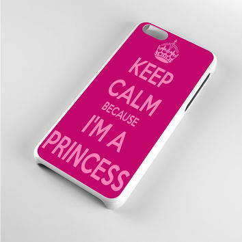 Keep calm and be a princess iPhone 5c Case