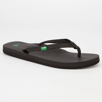 Sanuk Yoga Joy Womens Sandals Black  In Sizes