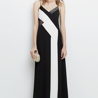 DVF Frederica Embellished Silk and Lace Slip Maxi