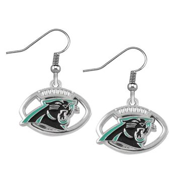 Fashion USA Football Drop Earrings for Carolina Panthers logo Dangle DropEarrings for Women Jewelry 10pair/lot
