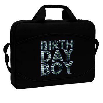 """Birthday Boy - Blue and Green Dots 15"""" Dark Laptop / Tablet Case Bag by TooLoud"""