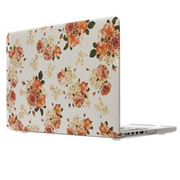 2016 hot sale New Flower Hard Shell Case Cover Keypad Skin for Macbook Pro 13.3 inch  laptop styling very good