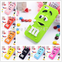 New Cute Lovely 3D Cartoon Chocolate Beans Soft Silicone Rubber Back Case Cover for iPhone 7 7plus 5 5S 6 6S 6+ Plus 4 4S 5C SE