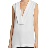 Theory Salvatill Silk Georgette Top | Bloomingdales's