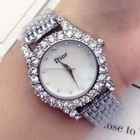 DIOR Diamond Trending Watch Ladies Men Watch Little Ltaly Stylish Watch Sliver G-YF-GZYFBY