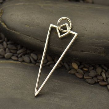 Sterling Silver Wire Arrowhead Charm