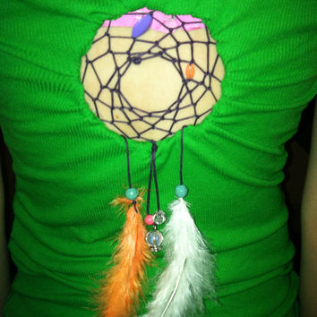 Crystal ball Dreamcatcher shirt by Handspunhomegoods on Etsy