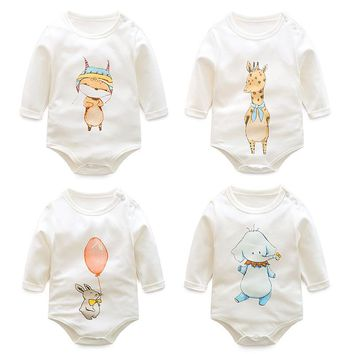Baby Bodysuits Long-Sleeved Cotton Baby clothing Baby Clothes Cartoon Print Babys Girls Bodysuit Newborn Clothes for infant girl