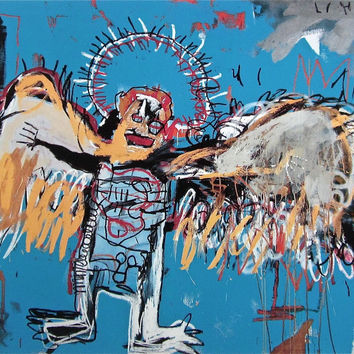 Untitled (1981) Fallen Angel, Giclee Print, Jean-Michel Basquiat