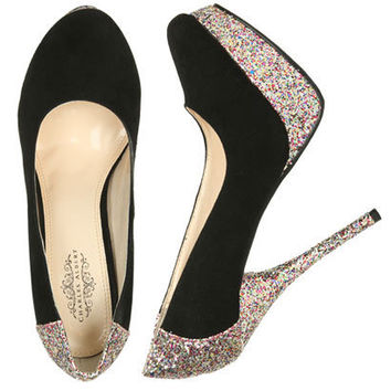 Glitter Platform Heel - Teen Clothing by Wet Seal