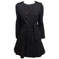 Prada Black Flared Coat
