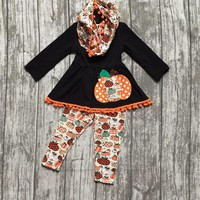 Halloween FALL/Winter baby girls outfits 3 pieces