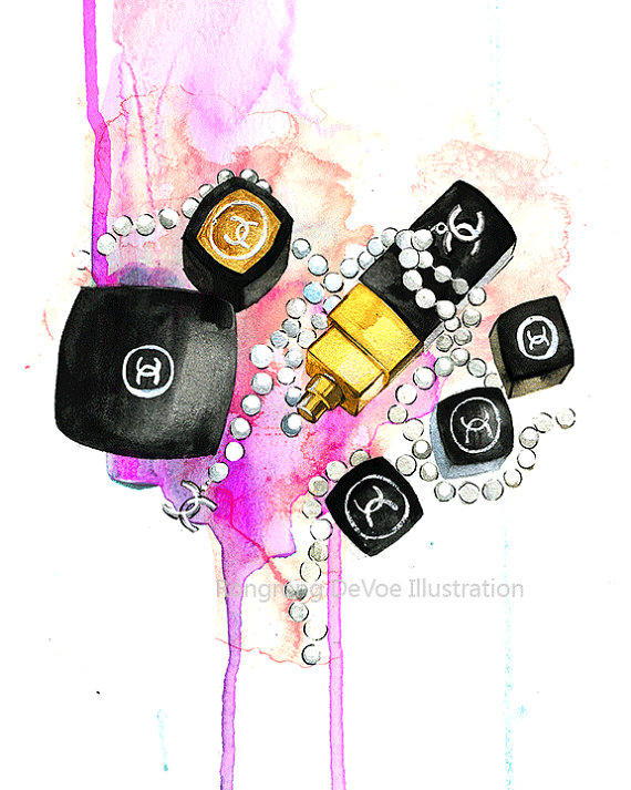 Fashion Illustration Chanel Art Print From Rongrong