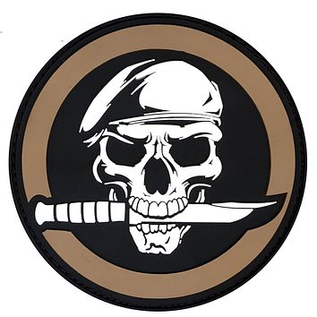 Rothco PVC Military Skull Morale Patch