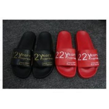 DCCKIG3 FASHION SUPREME MEN AND WOMEN SANDALS SLIPPERS SHOES