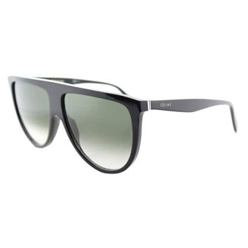 Celine CL 41435 807 Thin Shadow Black Plastic Round Green Degrade Lens Sunglasses | Overstock.com Shopping - The Best Deals on Fashion Sunglasses