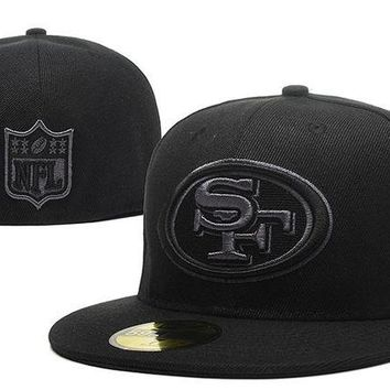 DCCKBE6 San Francisco 49ers New Era 59FIFTY NFL Football Cap All-Black