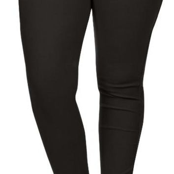 Capri Jeggings with Pockets, Pull On Jeans, High Waisted Jeggings, Jean Leggings
