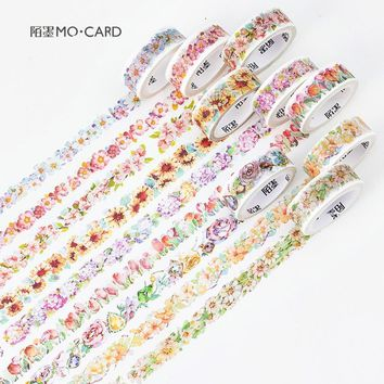9 Styles Season Blossom Flower wreaths Garland Accessories Decorative Washi Tape DIY Diary Planner Scrapbook Lable Masking Tape
