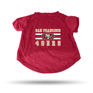 49ERS RED PET T-SHIRT - XL