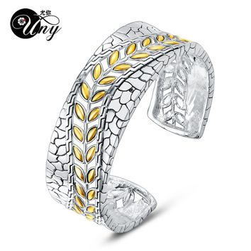 UNY Bracelet Designer Brand Fashion Hardy Vintage jewelry Flower Leaf Antique Cuff Bangle Womens Christmas Gifts Free Shipping