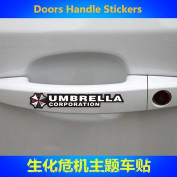 Car Stickers Resident Evil Umbrella Corporation Creative Decals For Door Handle Waterproof Auto Tuning Styling D11