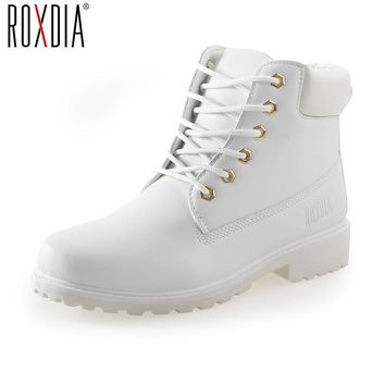Women's boots women ankle boot new fashion spring autumn winter Suede leather lace-up