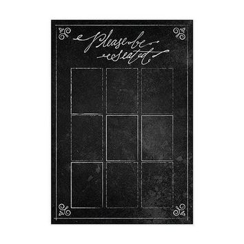 Personalized Seating Chart Kit With Chalkboard Print Design (Pack of 1)