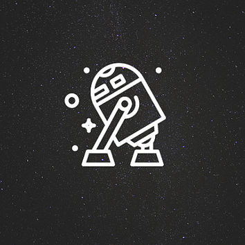 R2-D2 Decal / Star Wars Decals / Laptop Decals / Car Decals / Syfy Decals / Computer Decals / MacBook Decals / Window Decals