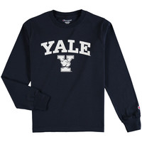 Yale Bulldogs Champion Youth Arch Logo Long Sleeve T-Shirt - Navy