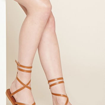Crisscross Faux Leather Sandals | Forever 21 - 2000169981