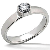 solitaire 0.50 ct. beautiful diamonds anniversary ring