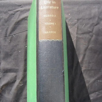 Vintage Textbook American Life in Literature Vol 1 Jay Hubbel Revised Edition