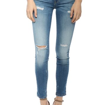 Flying Monkey Mid Rise Bottom Cuff Skinny