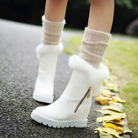 Rabbit Fur Snow Boots Women Shoes Fall|Winter 7796