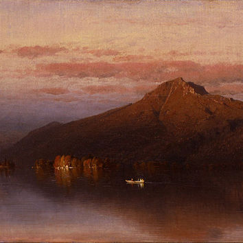 Canvas Art Prints Stretched Framed Giclee Famous Oil Painting Sanford Robinson Gifford Whiteface Mountain From Lake Placid
