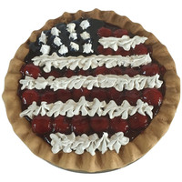 Farmhouse Fake Red White and Blue Berry Pie
