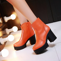 Ankle Boots Chunky Heel Pumps High Heels Women Shoes Fall|Winter
