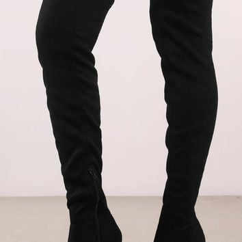 Made For Walking Faux Suede Thigh High Boots
