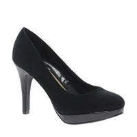 New Look Wide Fit Skewers Platform Court Shoes at asos.com