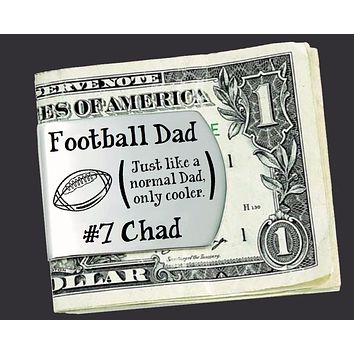 Football Dad Personalized Money Clip | Gift for Dad